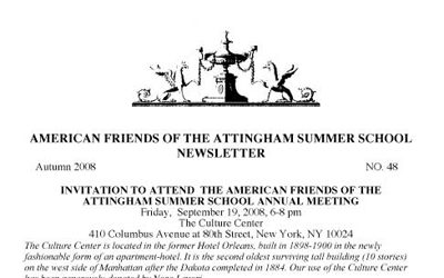 American Friends Newsletter 2008