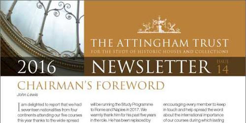 Attingham Newsletter 2016